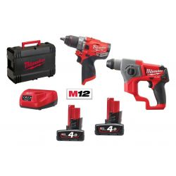 Kit 12 Fuel Tassellatore + Trapano avvitatore Milwaukee